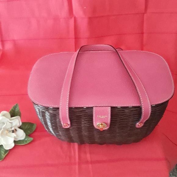 kate spade Handbags - Kate spade pink wicker basket purse